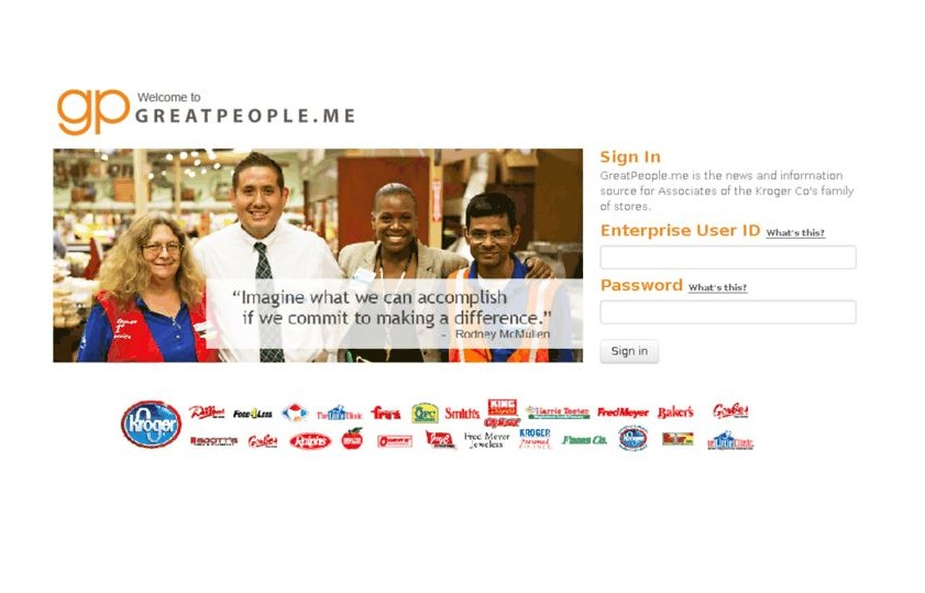 GreatPeople.Me Kroger Employee Login